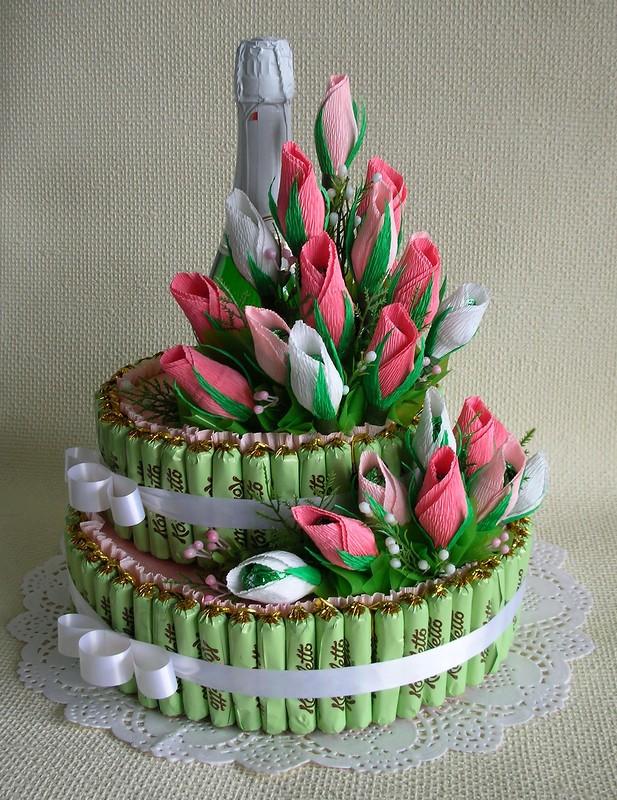 Торты своими руками из конфет на день рождения